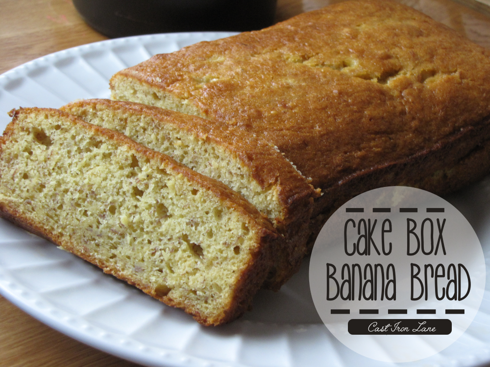 Cake Box Banana Bread